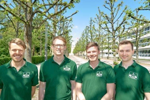 Maximilian Renner, Lukas Wipf, Tobias Dannerbauer und Daniel Schlotthauer