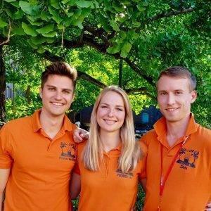 Fabian, Verena und Jan